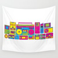 90s Wall Tapestries featuring 90s by sknny