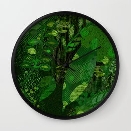Green Jungle Layers 1 Wall Clock