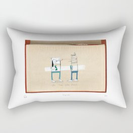 Staring contest Rectangular Pillow
