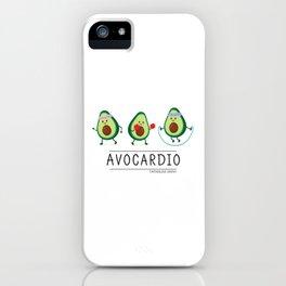 Avocardio (black) iPhone Case