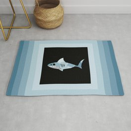 Paint Chip Shark Rug