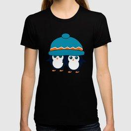 When two cute penguins find a beanie T-shirt