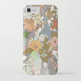 Falling Asleep in the Flowers Fine Art Print iPhone Case