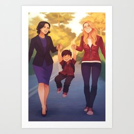 A Perfect Family Art Print