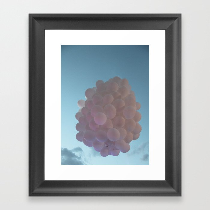 up up and away - balloons Framed Art Print