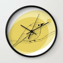 warbler Wall Clock