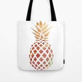 Tropical Pineapple Coral Tote Bag