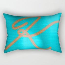 Metallic K Rectangular Pillow