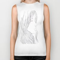 art nouveau Biker Tanks featuring Art Nouveau by YriArt