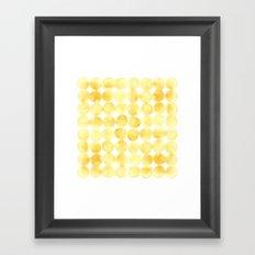 Imperfect Geometry Yellow Circles Framed Art Print