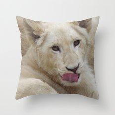 White Lion Cub - The Next Generation! Throw Pillow