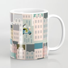 Motorbikes in the City Coffee Mug
