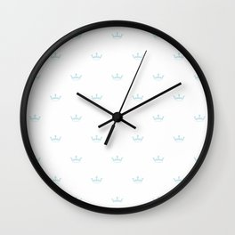 Baby Blue Crown pattern Wall Clock