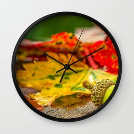 Autumn Leafs (Color) Wall Clock