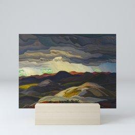 Canadian Landscape Oil Painting Franklin Carmichael Art Nouveau Post-Impressionism Snow Clouds Mini Art Print