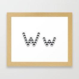 Isolated seeds of love alphabet letter W Framed Art Print
