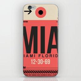 MIA Miami Luggage Tag 1 iPhone Skin