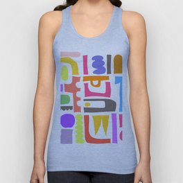 Abstrakte Formen 003 / An Abstract Mid-Century Style Composition Unisex Tank Top
