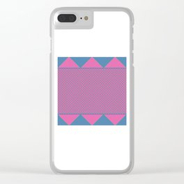 Bright Plaid Clear iPhone Case
