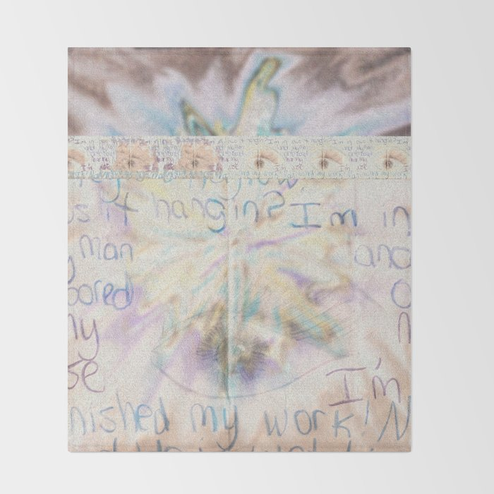 passing notes in class Throw Blanket
