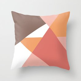 Modern geometric background earth colors Throw Pillow