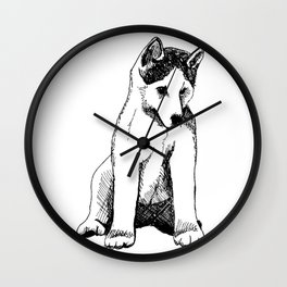 Siberian Husky Puppy Wall Clock