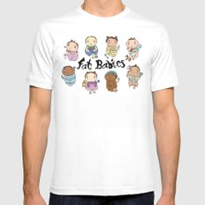 Fat Babies White Mens Fitted Tee MEDIUM