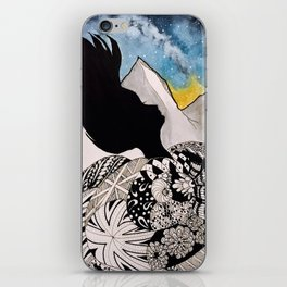 Woman in the Mountains iPhone Skin