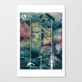 Game of Animals Canvas Print