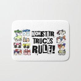 Monster Truck Kid Art by Tucker Bath Mat