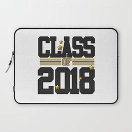 class of 2018 graduation grade senior 2018 new student love art gold hot Laptop Sleeve