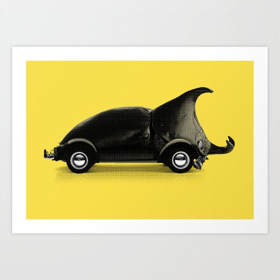 A regular beetle Art Print
