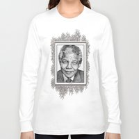 mandela Long Sleeve T-shirts featuring Nelson Mandela by JMcCombie