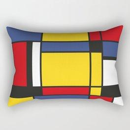 Downtown, Tribute to Mondrian Rectangular Pillow