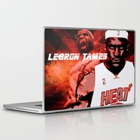 lebron Laptop & iPad Skins featuring Lebron James: #4 Hall of Fame Series by Sifa Blackmon