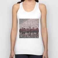 cleveland Tank Tops featuring cleveland city skyline by Bekim ART
