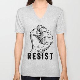 Resist Clenched Hand Unisex V-Neck