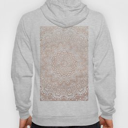 Mandala - rose gold and white marble 3 Hoody