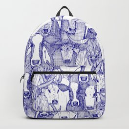 just cattle blue white Backpack