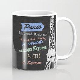 Paris Tourism Poster Coffee Mug