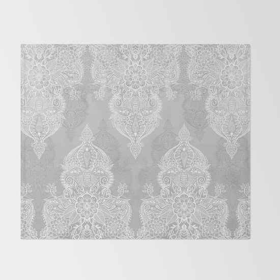 Lace & Shadows 2 - Monochrome Moroccan doodle by micklyn