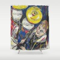 drum Shower Curtains featuring Drum 1 by Ed Rucker