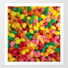 Rainbow Jelly Beans Art Print