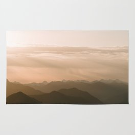 Mountain Sunrise in the german Alps - Landscape Photography Rug