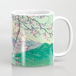 Kawase Hasui Title- Mt. Fuji from Kishio Vintage Japanese Woodblock Print East Asian Cultural Art Coffee Mug