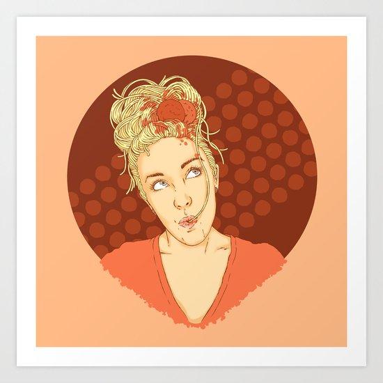 Spaghettihead Art Print