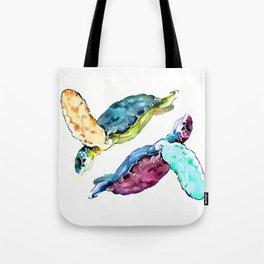 Sea Turtle, two turtles, family, love Tote Bag