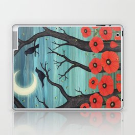 crows, fireflies, and poppies in the moonlight Laptop & iPad Skin