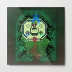 Zelda Link to the Past Master Sword Metal Print