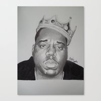 notorious big Canvas Prints featuring notorious BIG  by 1dnyce
